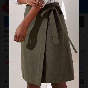 Loft Wrap Skirt- olive